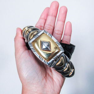 VINTAGE Genuine Snakeskin Western Leather Belt S/M